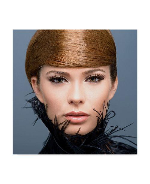 "Trademark Global Ivan Tonov 'Short Hair' Canvas Art - 35"" x 2"" x 35"""