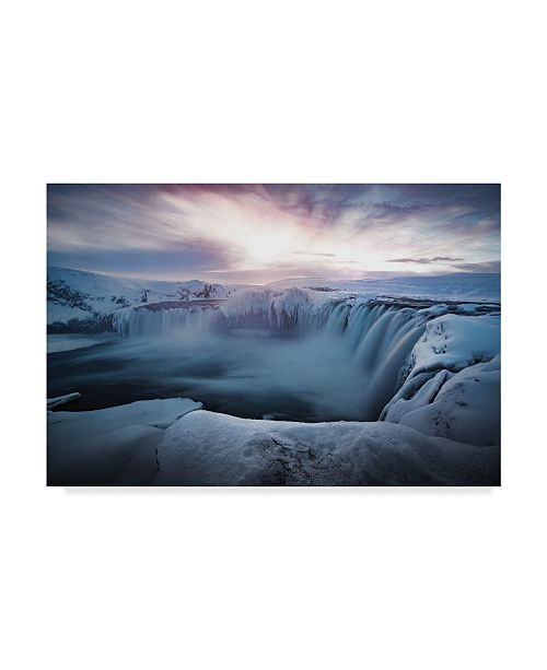 "Trademark Global Colin Bradnam 'Morning Godafoss' Canvas Art - 24"" x 2"" x 16"""
