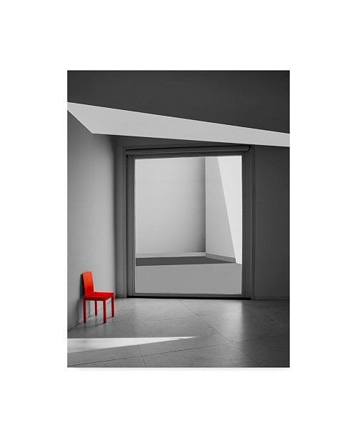 """Trademark Global Inge Schuster 'The Red Chair' Canvas Art - 18"""" x 2"""" x 24"""""""