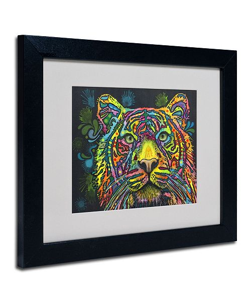 "Trademark Global Dean Russo 'Tiger' Matted Framed Art - 14"" x 11"" x 0.5"""
