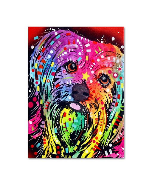"Trademark Global Dean Russo 'Yorkie' Canvas Art - 26"" x 32"" x 2"""