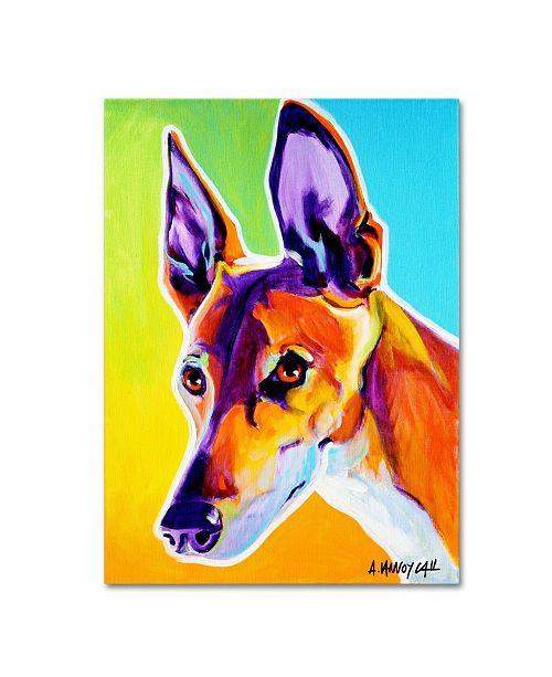 """Trademark Global DawgArt 'Pharoah Hound Linus' Canvas Art - 19"""" x 14"""" x 2"""""""