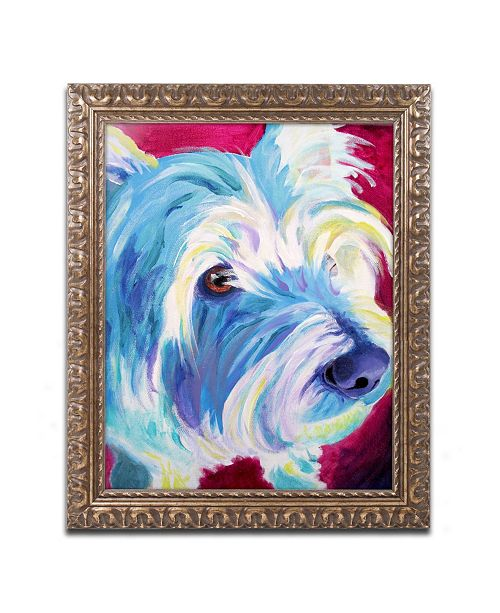 "Trademark Global DawgArt 'Westie' Ornate Framed Art - 11"" x 14"" x 0.5"""