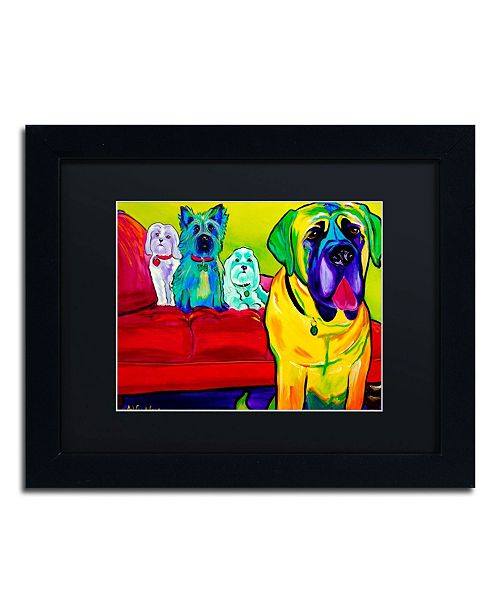 "Trademark Global DawgArt 'Drooler Get The Floor' Matted Framed Art - 14"" x 11"" x 0.5"""