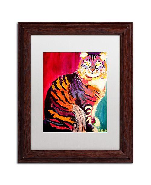 """Trademark Global DawgArt 'Guilley Cabil' Matted Framed Art - 11"""" x 14"""" x 0.5"""""""