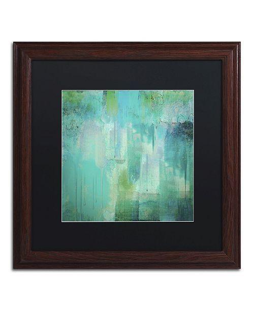"Trademark Global Color Bakery 'Aqua Circumstance' Matted Framed Art - 16"" x 16"" x 0.5"""