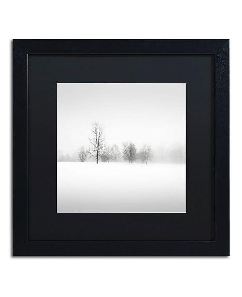 """Trademark Global Dave MacVicar 'Winter Fog' Matted Framed Art - 16"""" x 16"""" x 0.5"""""""