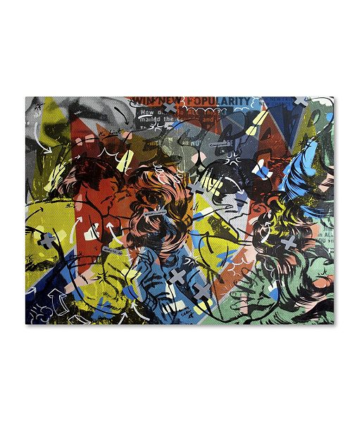 "Trademark Global Dan Monteavaro 'Popularity Everyone is Doing It' Canvas Art - 32"" x 24"" x 2"""