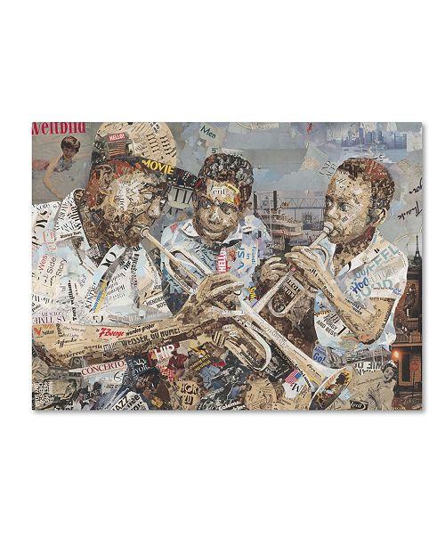 """Trademark Global Ines Kouidis 'Blues Boys' Canvas Art - 19"""" x 14"""" x 2"""""""