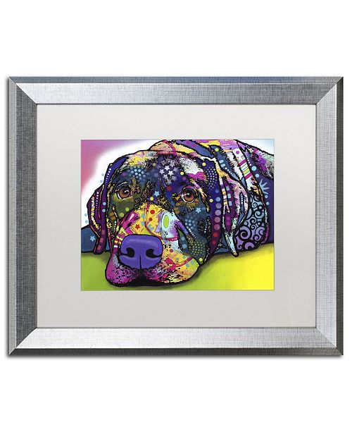 "Trademark Global Dean Russo 'Savvy Labrador' Matted Framed Art - 20"" x 16"" x 0.5"""