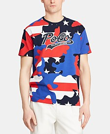 Polo Ralph Lauren Men's Classic-Fit Camo Jersey Americana T-Shirt, Created for Macy's