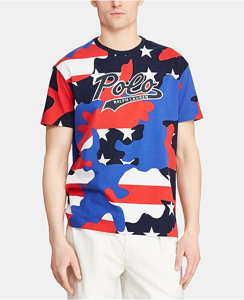 be47d4cc ... Polo Ralph Lauren Men's Classic-Fit Camo Jersey Americana T-Shirt,  Created for ...