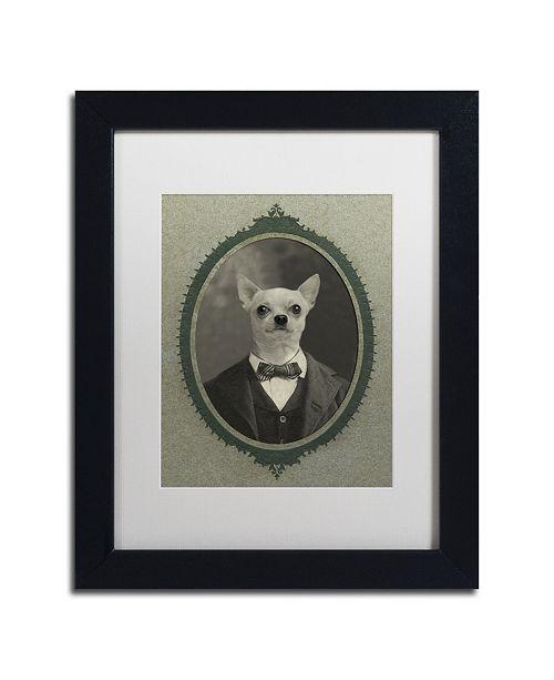 "Trademark Global J Hovenstine Studios 'Dog Series #1' Matted Framed Art - 11"" x 14"" x 0.5"""