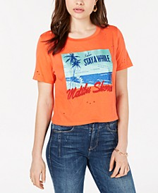 Ripped Malibu-Shores Graphic T-Shirt