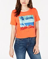 1a87a12f660fb GUESS Ripped Malibu-Shores Graphic T-Shirt