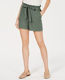 Paper Bag Waist Shorts, Created for Macy's