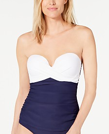 Island Escape Colorblocked Underwire Tankini Top, Created for Macy's