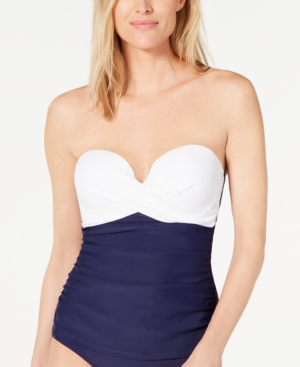 Island Escape Colorblocked Underwire Tankini Top, Created for Macy's Women's Swimsuit