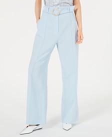 LEYDEN Pintuck Belted Pants