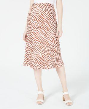 Image of 4SI3NNA Printed Midi Skirt