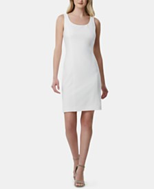 Tahari ASL Scoop-Neck Sleeveless Dress