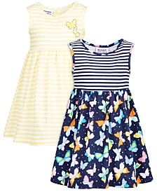 Blueberi Boulevard Baby Girls 2-Pack Printed Dresses