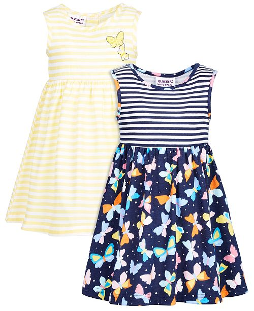 Blueberi Boulevard Baby Girls 2-Pack Printed Dresses