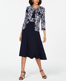 Jessica Howard Petite Printed Jacket & Dress