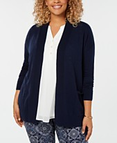 0764f51f509 Charter Club Plus Size Cotton Open-Front Cardigan
