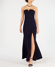 Vince Camuto Strapless A-Line Gown