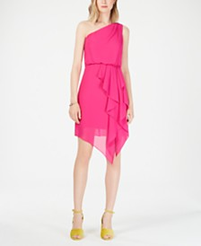 Vince Camuto One-Shoulder Asymmetrical Dress