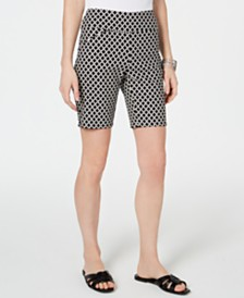 I.N.C. Curvy-Fit Jacquard Bermuda Shorts, Created for Macy's