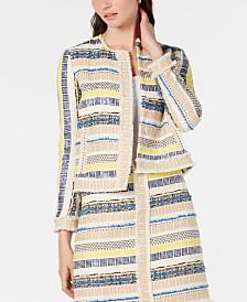 Elie Tahari Ceanna Tweed Jacket