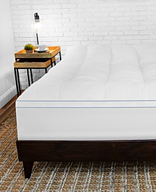 MemoryLOFT® 3.5'' Gel-Infused Memory Foam and Fiber Mattress Topper Collection