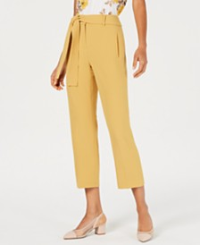 Bar III Textured Crepe Pants, Created for Macy's