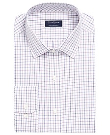 Men's Classic/Regular-Fit Wrinkle-Resistant Tattersall Plaid Dress Shirt, Created for Macy's