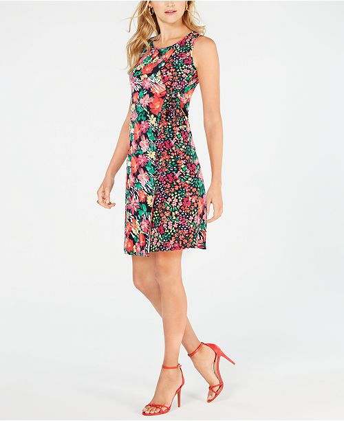 MSK Petite Floral-Print Wrap Dress