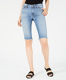 Amelia Denim Bermuda Shorts