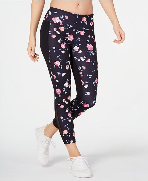 Ideology Ditsy Floral Printed Leggings, Created for Macy's