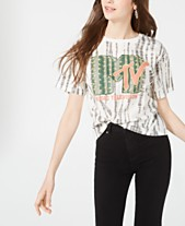 a3fed06a7 Love Tribe Juniors' MTV Printed Cropped Graphic T-Shirt
