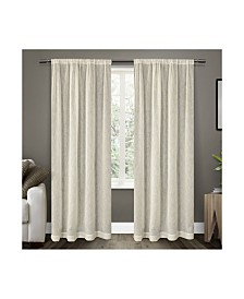 Exclusive Home Belgian Textured Sheer Rod Pocket Curtain Panel Pair