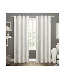Exclusive Home Twig Insulated Blackout Grommet Top Curtain Panel Pair
