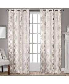 Exclusive Home Augustus Metallic Light Filtering Grommet Top Curtain Panel Pair