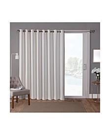 Sateen Patio Woven Blackout Grommet Top Single Curtain Panel