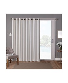 Exclusive Home Sateen Patio Woven Blackout Grommet Top Single Curtain Panel