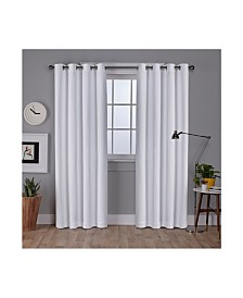 Exclusive Home Vesta Textured Woven Blackout Grommet Top Curtain Panel Pair