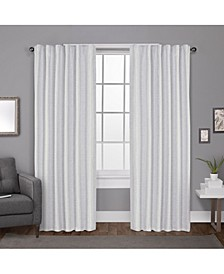 Zeus Solid Textured Woven Blackout Hidden Tab Curtain Panel Pair
