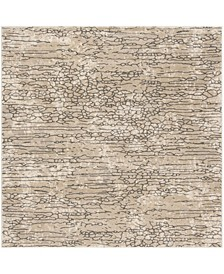 """Meadow Beige 6'7"""" x 6'7"""" Square Area Rug"""