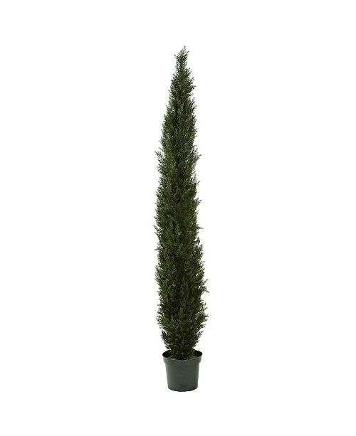 "Nearly Natural 8' Mini Cedar Pine Tree in 12"" Pot"