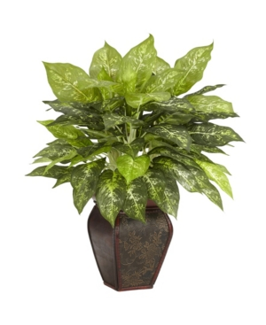 Nearly Natural Dieffenbachia w/ Decorative Vase Silk Plant